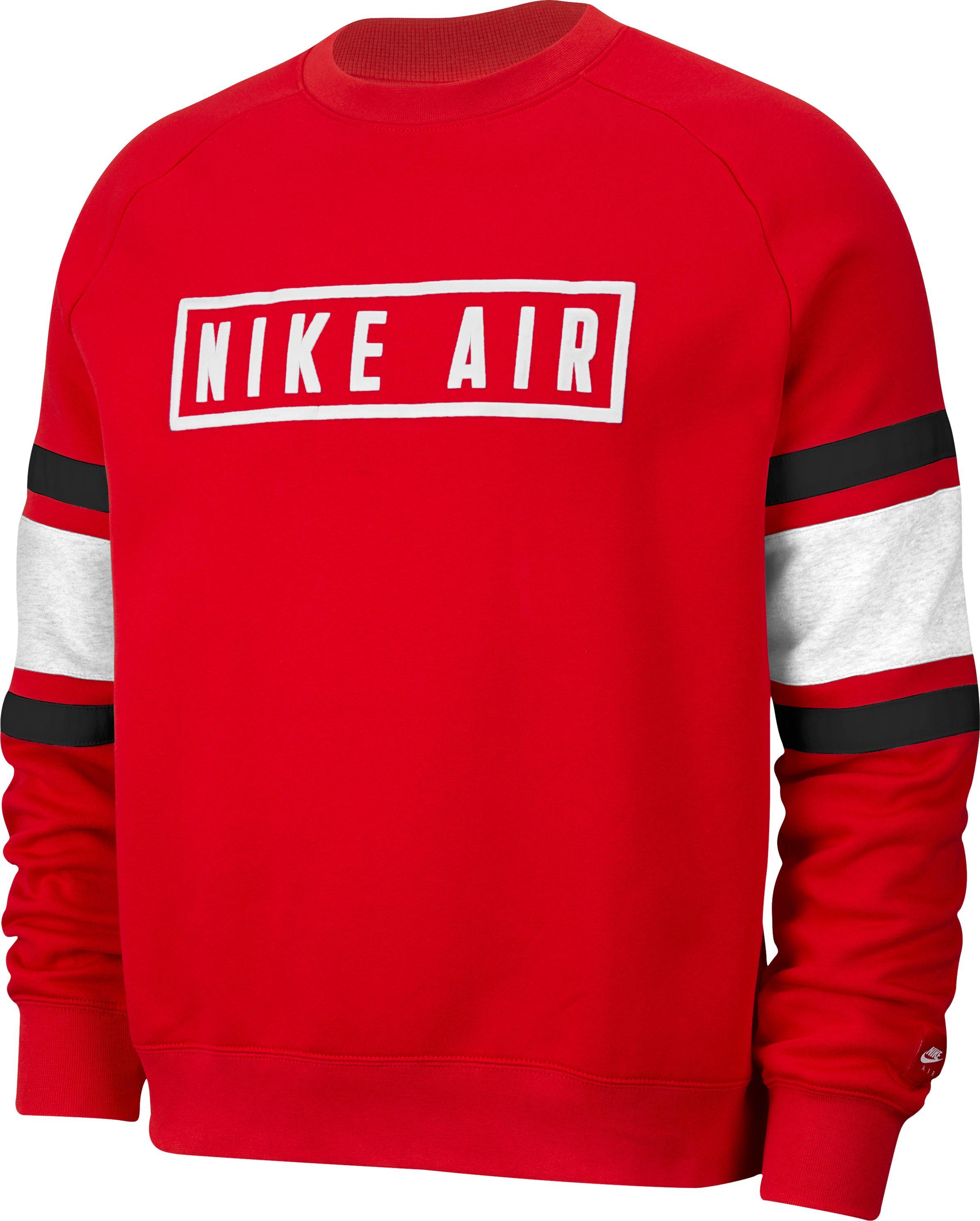 Nike Air hoodie black white red